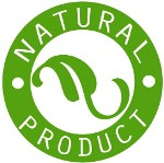 Natural Product logo in green and white with a leaf in the centre presenting the Sandy Hook Soap Factory truly all natural soaps.