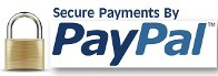 Secure Payments by PayPal logo with a closed lock presenting safe and secure shopping on the internet.